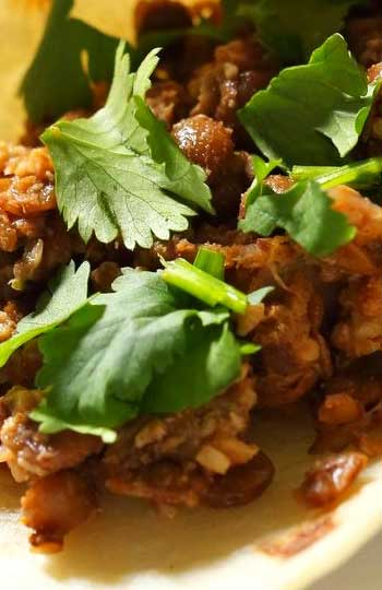 carrot, walnut mince